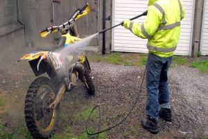 wash dirt bike